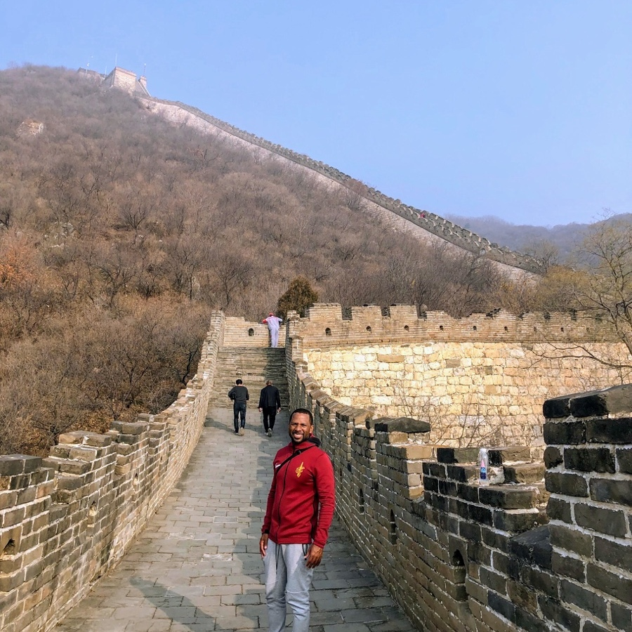 Me standing on the Great Wall of China